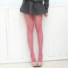 Womens Lady Vintage Retro Flower Hollow-out Fishnet Pantyhose Stockings Tights
