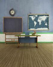 Retour à l'école bureau Blackboard Kids Vinyl Backdrop Photo Prop 5X7FT 150x220CM