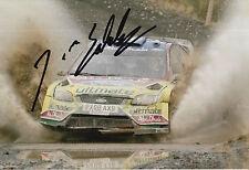 Jari Matti Latvala Hand Signed 12x8 Photo Ford Abu Dhabi Rally.