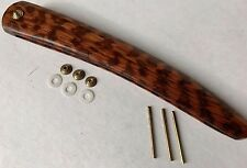 Straight Razor Snakewood Scales Collars wedge fitted Straight Razor Handles (FC)