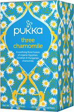 Pukka Three Chamomile, Organic Herbal Tea 4 Pack, 80 Tea bags
