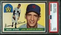 1955 Topps BB Card # 60 Dean Stone Washington Nationals PSA NM 7 !!!