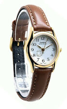 Casio Women's Quartz Gold Tone Stainless Steel Brown Leather Watch LTP1094Q-7B8