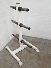 Cybex White Weight Tree Plate Storage Gym Weights