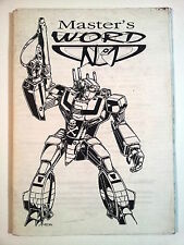 Master's Word n. 1 * Fanzine Uomo Ragno, D&D, Robotech, Dragonlance, Splatter