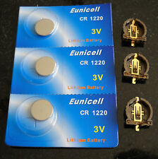 3 x 3v CR1220 Batteries and 3 x CR1220 Holders