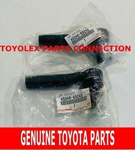 NEW GENUINE TOYOTA LEXUS 4RUNNER FJ GX460 TIE ROD END SET LH & RH 45046-69245