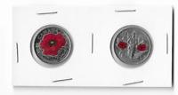 2015 Canada Colored Poppy Quarter and 2010 Canada Colored  Quarter..Circulated