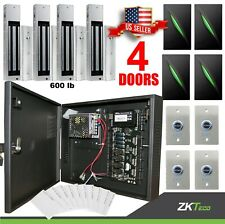 4 Doors ZK C3 400 Access Control Board Systems & 600lbs Magnetic Lock Power Box