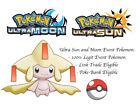 Pokemon Ultra Sun and Moon 2014 Xmas Party Shiny Jirachi Japan Event Pokemon