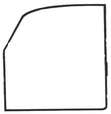 VW  Beetle Door Seal - Right - 1956-66 -OE Quality