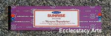Satya Sai Sunrise Incense Sticks 15 Gram Box NEW {:-)