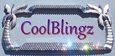 4 Row PALM TREE Crystal License Plate Frame Bling made w/ Swarovski Elements