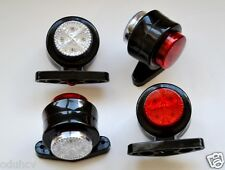 4x Red White LED Stalk Side Marker Lights Lamps Truck Bus Tractor Lkw Kitcar 24V