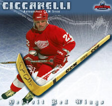 DINO CICCARELLI Signed CCM Wood Model Stick - Detroit Red Wings