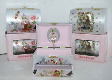 """New Treasure Chest Style Metallic Fairy Jewelry Music Box """"Swan Lake"""" Tune+Box"""