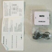 Qvs Audio/Video Mini Converter - Hdmi to Composite Video & Stereo Audio 8630 ^