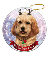Holiday Pet Gifts Blonde Cockapoo Dog Porcelain Christmas Ornament