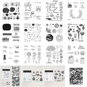 Tiere Blumen Stanzschablonen & Stempel Sets für DIY Scrapbooking Handwerk