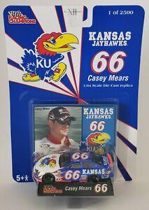 2002 1/64 CASEY MEARS #66 KANSAS JAYHAWKS NASCAR DIECAST CAR
