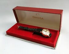 Vtg Omega Geneve Automatic 566.002 18k ct Solid Gold Ladies Watch Cal.681 & Box