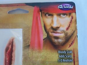 Halloween Pirate Scars Tattoos Bloody Scab Makeup Kit Costume Theater Face Paint