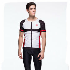 GYM Compression Base Layer Short Sleeve Tee Cycling Jersey Men Tight Shirt C3052