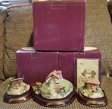 Walt Disney Enchanted Places, Three Little Pigs, Set of all 3 Houses! HTF LOOK!