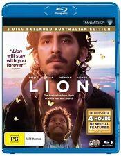 Lion Blu-ray 2 disc BRAND NEW Nicole Kidman Dev Patel  Region B