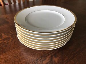 Williams Sonoma Brasserie Gold Dinner Plates Set of 8