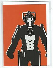 Blank/Open Doctor Who Greetings Card Cyberman Red 2012 Brand New & Sealed