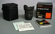 Sigma EX 10-20mm F/4.0-5.6 HSM DC EX Lens For Canon - Boxed!