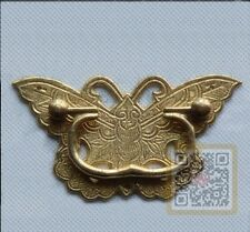 Chinese Antique Beautiful Butterfly Style Brass Drawer Pull Handle For Cabinet