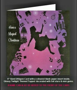 Once Upon a Twilight  'Alice In Wonderland Alice Falling' Magical Christmas Card
