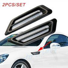 Universal Black Style Car Front Fender Air Vent Inlet Grille Decorate Accessory