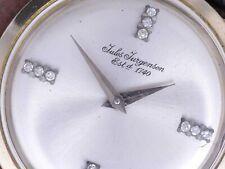 Jules Jurgensen Vintage Art Deco 14k White Gold Case Serviced 17j P330 New Band