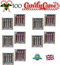 100 X Candy Canes Árbol De Navidad Decoración dulces Menta Candy Cane Regalo para