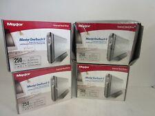 Maxtor OneTouch II 250 GB External HDD - FireWire/USB 2.0  -  Lot of 4 New