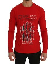 Love Moschino T-shirt Red Motive Print Cotton Stretch Crew-neck S. M