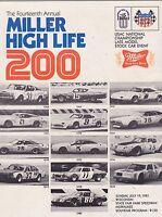 JULY 19 1981 car racing program MILLER BEER 200 MILE - MILWAUKEE