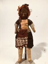 Antique Civil War Era 19th C BLACK Americana CLOTH Patchwork RAG DOLL Folk Art