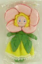 NIP Vintage House of Hatten Flower Girl Fairy Fabric Doll Christmas Ornament P