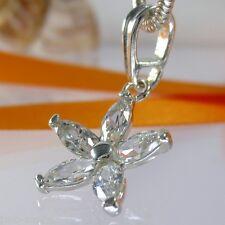 A-090 Anhänger Blume 925 Silber Schmuck mit Swarovski Elements Kristall