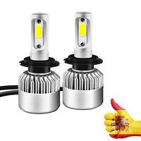 KI T 2x Bombillas LED H1 / h4 / H7 / H9 / H11 36W 7600LM 6000K COB Luz led coche