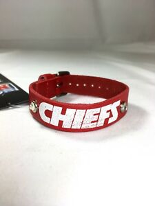 Kansas City Chiefs Ladies Leather Buckle Bracelet bling Fashion Belt Style