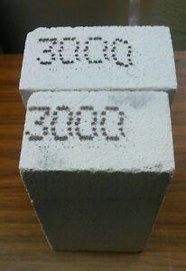 "Insulating FireBrick HARD refractory 3000  9 x 4.5 X 4"" X2.5  ARCH  single brick"