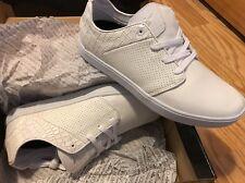 Creative Recreation Men's Santos Blanc White Fashion Sneakers Canvas Snake 8.5