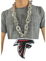 New NFL Atlanta Falcons SILVER Fan Chain Necklace Foam Magnet - 2 in 1