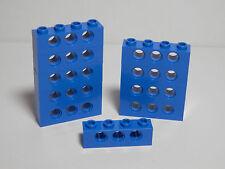 LEGO LEGOS  -  Set of 10 NEW Technic Bricks 1 X 4 with Holes  BLUE