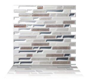 Tic Tac Tiles Peel and Stick Wall Tile_Como Pebble((25cm x 23.5cm x 5 sheets)